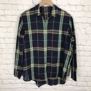 Madewell Plaid Button Up Cotton Shirt